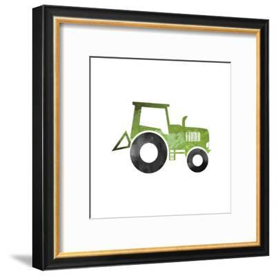 Truck With Paint Texture - Part II-Color Me Happy-Framed Art Print
