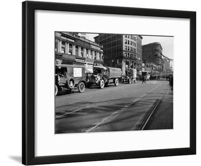 Trucks in Market Street, San Francisco, USA, C1922