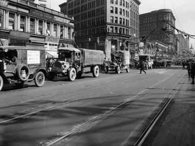 Trucks in Market Street, San Francisco, USA, C1922