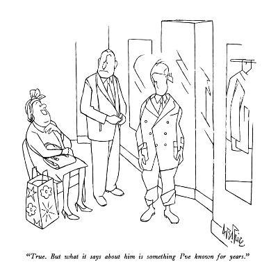 """""""True.  But what it says about him is something I've known for years."""" - New Yorker Cartoon-George Price-Premium Giclee Print"""