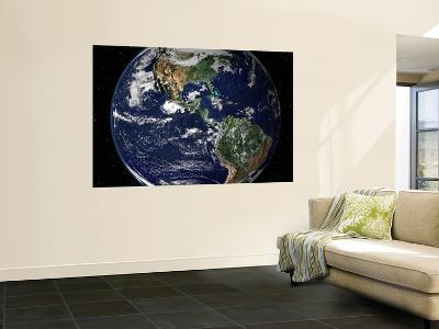 True Color Image Showing North and South America as They Would Appear from 35,000 Km Above Earth--Wall Mural