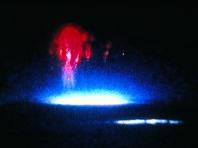 True-colour Image of Red Sprite Lightning--Photographic Print