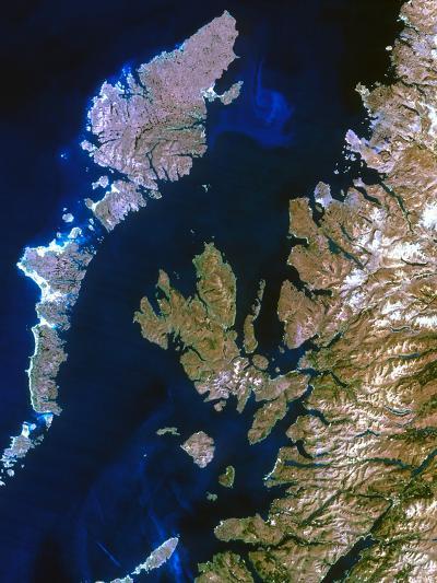 True-colour Satellite Image of Northwest Scotland-PLANETOBSERVER-Photographic Print