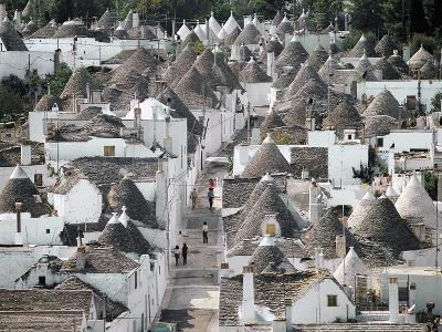Trulli (Small Round Houses of Stone with Conical Roof) in Alberobello (Unesco World Heritage List--Photographic Print