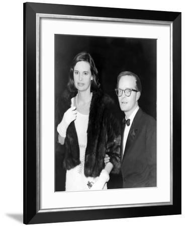Truman Capote, Southern American Writer with Socialite Gloria Vanderbilt in 1965--Framed Photo