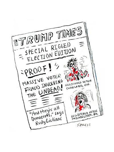 Trump Times - Cartoon-David Sipress-Premium Giclee Print