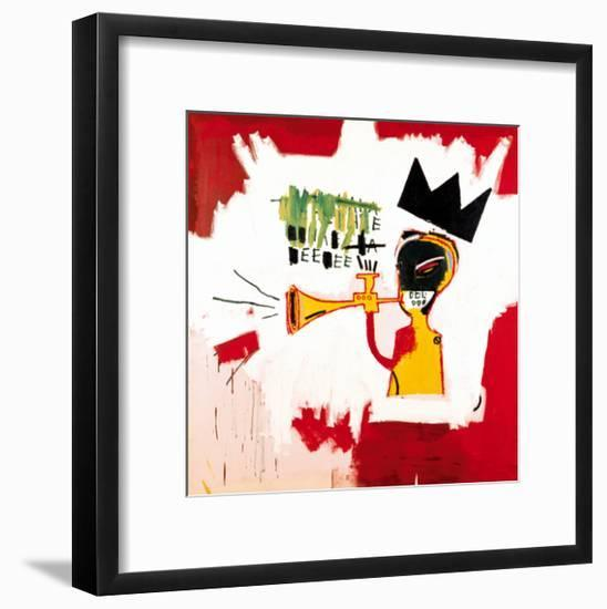 Trumpet, 1984-Jean-Michel Basquiat-Framed Poster
