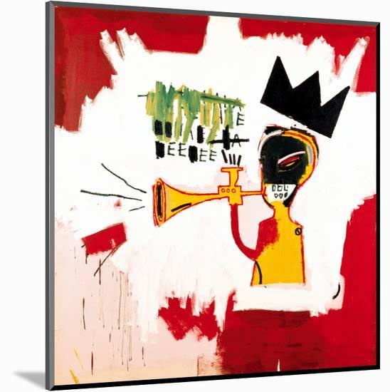 Trumpet, 1984-Jean-Michel Basquiat-Mounted Giclee Print