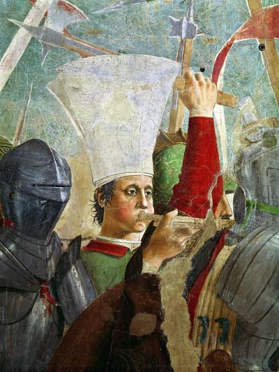 Trumpeter, Battle of Heraclius and Chosroes, Legend of the True Cross Cycle, Completed 1464-Piero della Francesca-Giclee Print