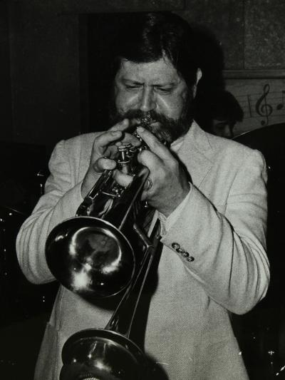 Trumpeter Bobby Shew Performing at the Bell, Codicote, Hertfordshire, 19 May 1985-Denis Williams-Photographic Print