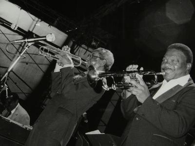 Trumpeters Joe Newman and Cat Anderson at the Newport Jazz Festival, Middlesbrough, 1978-Denis Williams-Photographic Print