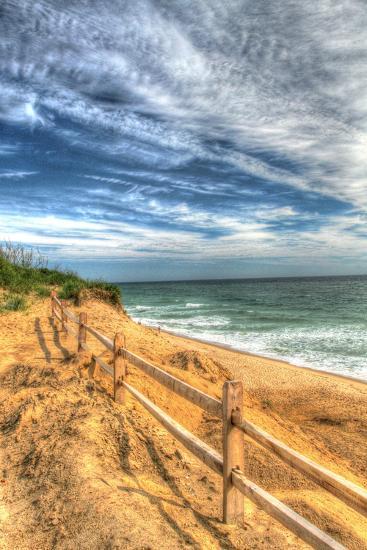 Truro Beach Fence Vertical-Robert Goldwitz-Photographic Print