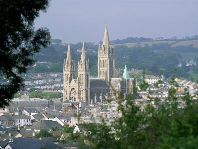 Truro Cathedral and City, Cornwall, England, United Kingdom-John Miller-Photographic Print