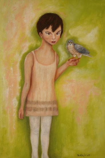 Trust-Girl with a Sparrow Hawk, 2010-Stevie Taylor-Giclee Print