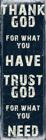 Trust God-Sheldon Lewis-Art Print
