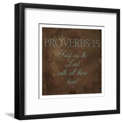 Trust In The Lord Brown-Jace Grey-Framed Art Print