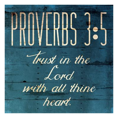 Trust In The Lord Clean-Jace Grey-Art Print