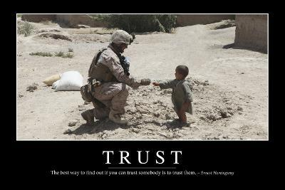 Trust: Inspirational Quote and Motivational Poster--Photographic Print