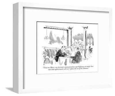 """""""Trust me Mort?no electronic-communications superhighway, no matter how  v?-Donald Reilly-Framed Premium Giclee Print"""