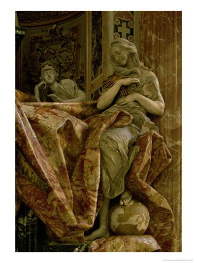 Truth from the Monument to Alexander VII in the North Transept, 1672-78 (Marble and Gilded Bronze)-Giovanni Lorenzo Bernini-Giclee Print