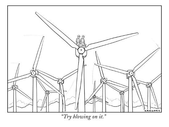 """""""Try blowing on it."""" - New Yorker Cartoon-Alex Gregory-Premium Giclee Print"""
