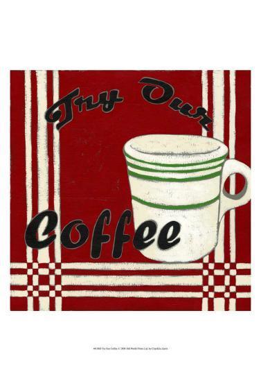 Try Our Coffee-Chariklia Zarris-Art Print