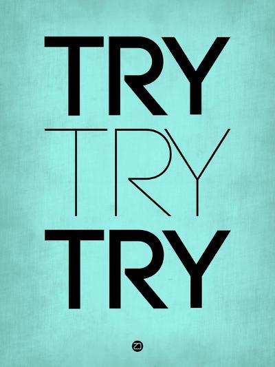 Try Try Try Blue-NaxArt-Art Print