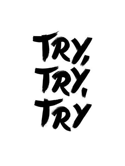 Try Try Try-Brett Wilson-Art Print