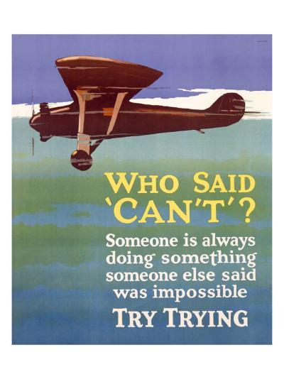 Try Trying Success--Giclee Print