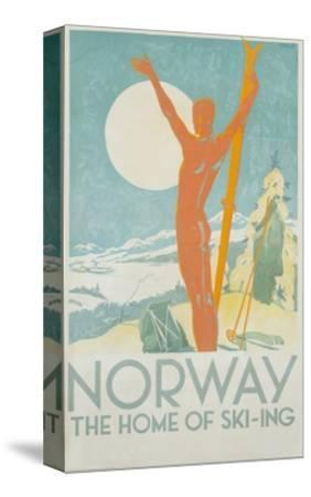Norway, the Home of Skiing Poster