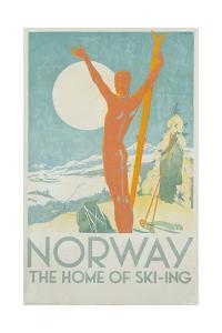 Norway, the Home of Skiing Poster by Trygve Davidsen