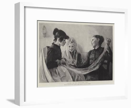 Trying on the Communion Veil-F. M. Stark-Framed Giclee Print