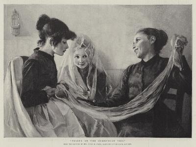 Trying on the Communion Veil-F. M. Stark-Giclee Print