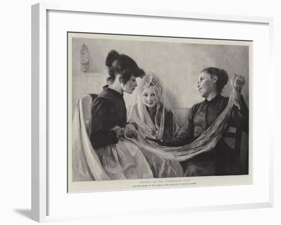 Trying on the Communion Veil-F. M. Stark-Framed Giclee Print