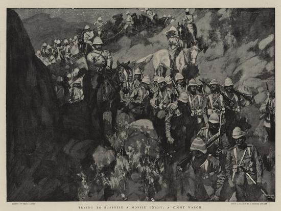 Trying to Surprise a Mobile Enemy, a Night March-Frank Craig-Giclee Print