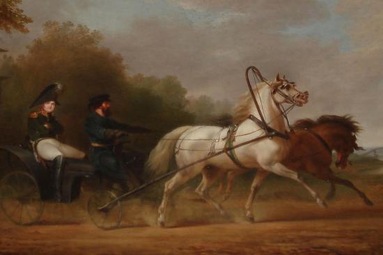 Tsar Alexander I Driving a Droschki-Alexander Ivanovich Sauerweid-Giclee Print