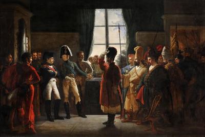 Tsar Alexander I Presenting the Kalmyks, Cossacks and Bashkirs of Russian Army to Napoleon I-Pierre-nolasque Bergeret-Giclee Print