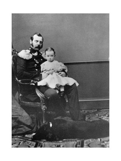 Tsar Alexander II of Russia with His Son, Grand Duke Paul Alexandrovich, C1860-C1861--Giclee Print