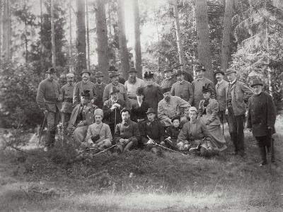 Tsar Alexander III with Family and Friends on a Hunt in the Bialowieza Forest, Russia, 1894--Giclee Print