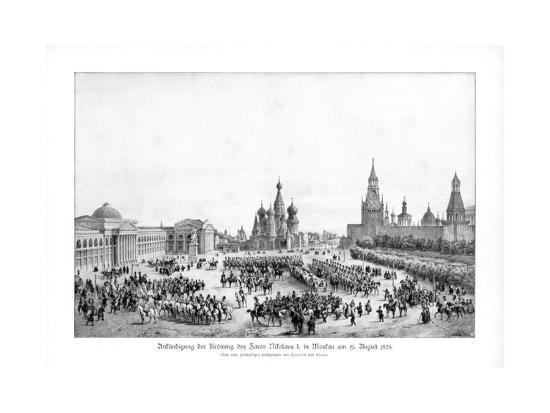 Tsar Nicholas I of Russia in Moscow, 19 August 1826--Giclee Print