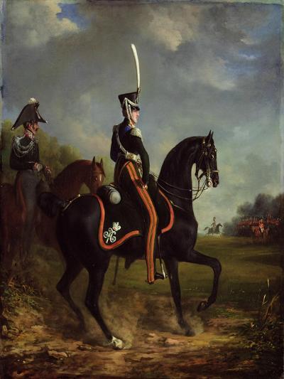 Tsar Nicholas I of Russia, When Grand Duke, Riding in Hyde Park-Alexander Ivanovich Sauerweid-Giclee Print