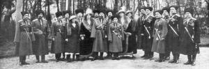 Tsar Nicholas II of Russia and His Family before Abdication, 1917