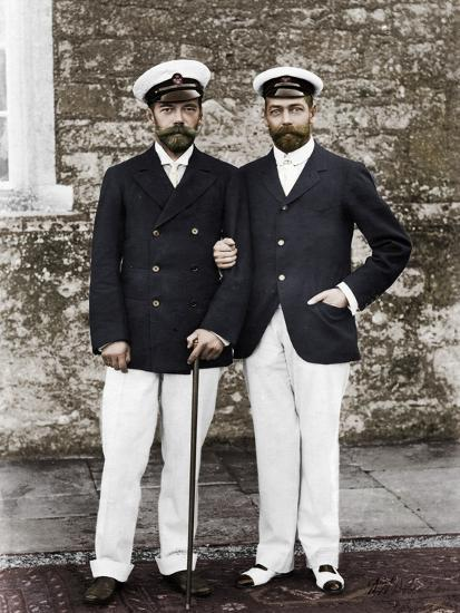 Tsar Nicholas II of Russia and King George V of Great Britain-Unknown-Photographic Print