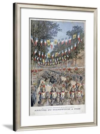 Tsar Nicholas II of Russia and President Felix Faure of France Arrive in Nice, 1896-Henri Meyer-Framed Giclee Print