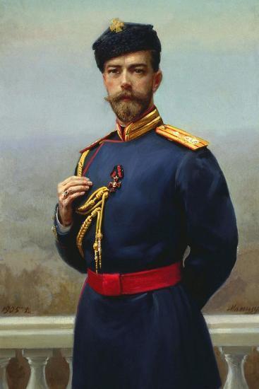 Tsar Nicholas II of Russia with the Cross of Saint Vladimir, 1905-Genrich Maniser-Giclee Print