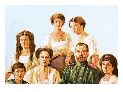 Tsar Nicholas Ii with This Family-Richard Hook-Giclee Print