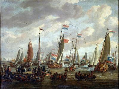 Tsar Peter I Visiting England in January 1698, Early 18th Century-Abraham Storck-Giclee Print
