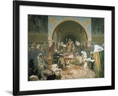 Tsar Simeon of Bulgaria (R.893-927), from the 'slav Epic', 1928-Alphonse Mucha-Framed Giclee Print