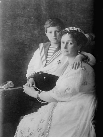 Tsarevich Alexei of Russia and Tsarina Alexandra, C1910--Giclee Print