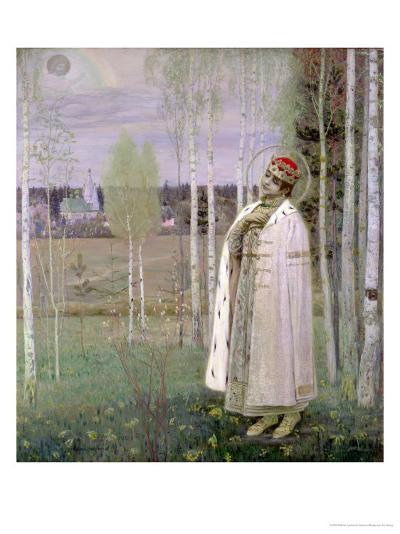 Tsarevich Dimitry, Son of the Assassinated Tsar Nicholas-Mikhail Vasilievich Nesterov-Giclee Print